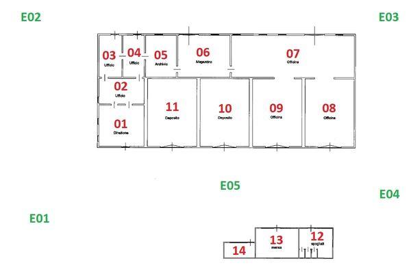Immagine n2 - Planimetria - Piano terra - Asta 10007