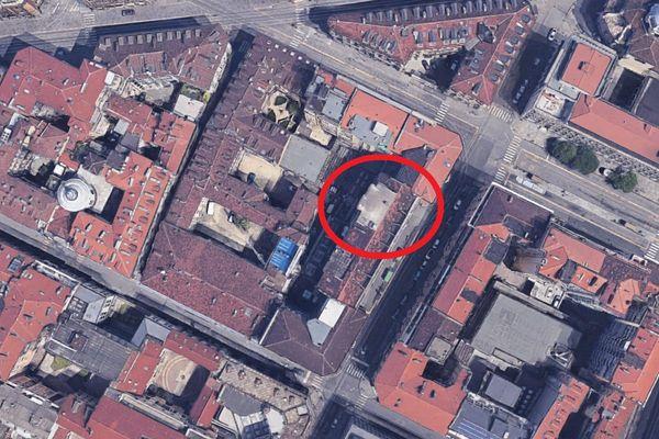 Immagine n1 - Planimetria - Vista aerea - Asta 10058