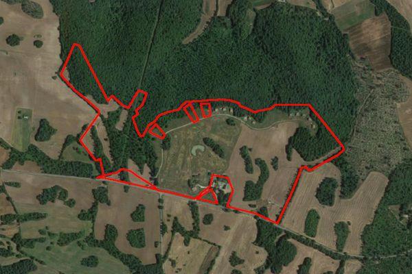 Immagine n1 - Planimetria - Vista aerea - Asta 10131