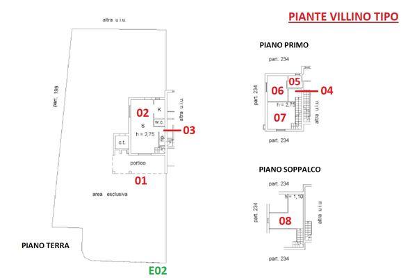 Immagine n1 - Planimetria - Piante VILLINI - Asta 10131