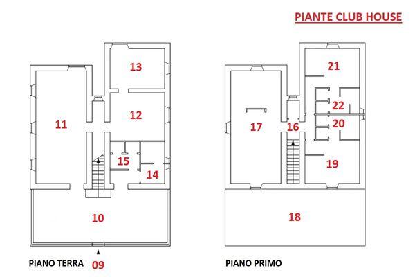 Immagine n1 - Planimetria - Piante Club House - Asta 10131