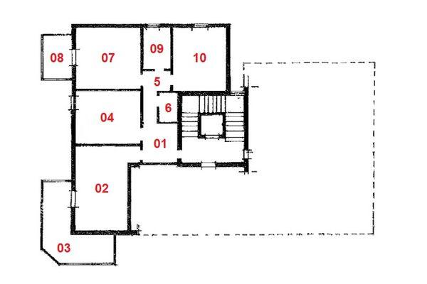 Immagine n1 - Planimetry - First floor - Asta 10290