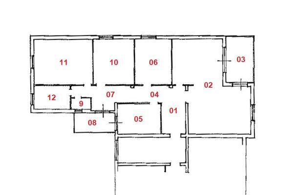 Immagine n1 - Planimetria - Piano secondo - Asta 10291