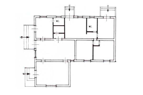 Immagine n5 - Planimetria - Piano terra casa custode - Asta 10329