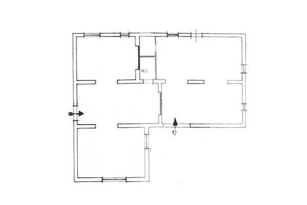 Immagine n6 - Planimetria - Piano interrato casa custode - Asta 10329