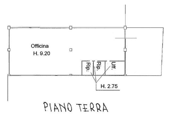 Immagine n1 - Planimetria - Piano terra - Asta 1033