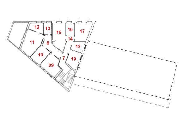 Immagine n2 - Planimetria - Piano primo - Asta 10370