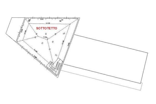 Immagine n3 - Planimetria - Piano sottotetto - Asta 10370