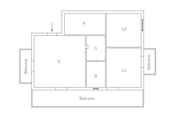 Immagine n1 - Planimetria - Piano primo - Asta 10384