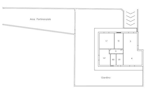 Immagine n1 - Planimetria - Piano terra - Asta 10385
