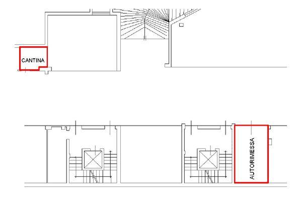 Immagine n2 - Planimetria - Piano interrato - Asta 10726