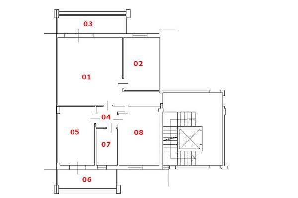 Immagine n1 - Planimetria - Piano terzo - Asta 10792