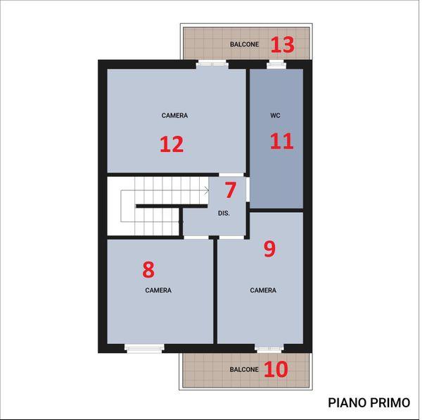 Immagine n2 - Planimetria - Piano primo - Asta 10939