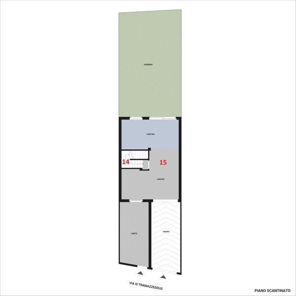 Immagine n3 - Planimetria - Piano seminterrato - Asta 10939
