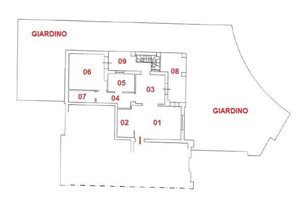 Immagine n0 - Planimetria - Piano terra - Asta 11042