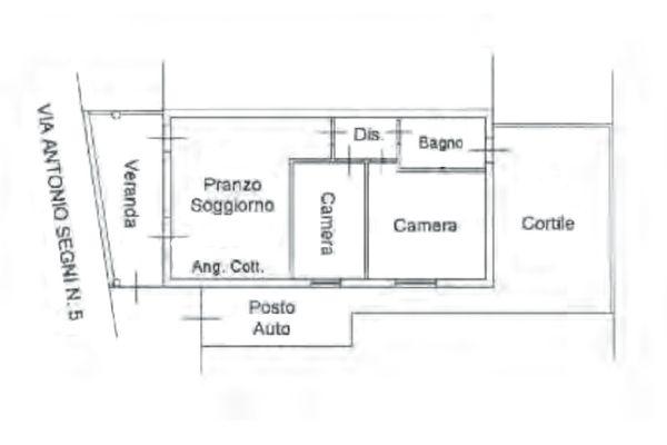 Immagine n1 - Planimetria - Piano terra - Asta 11086