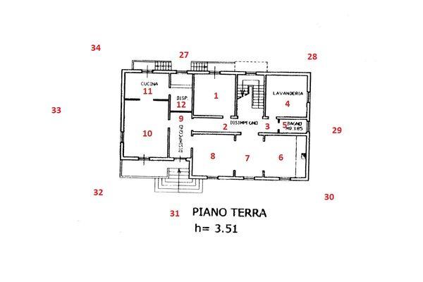 Immagine n1 - Planimetria - Piano terra - Asta 11102