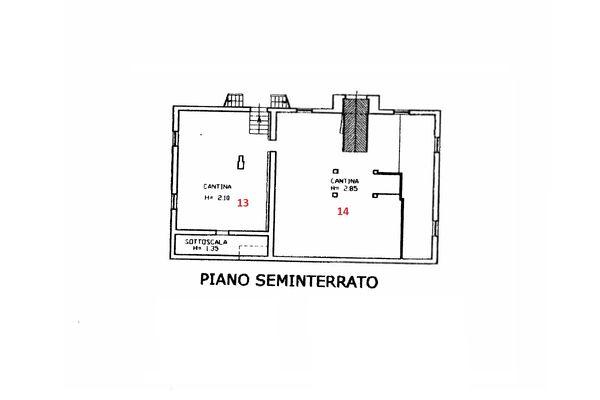 Immagine n3 - Planimetria - Piano interrato - Asta 11102