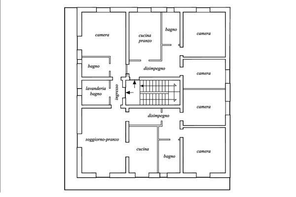Immagine n0 - Planimetria - Piano secondo - Asta 11198