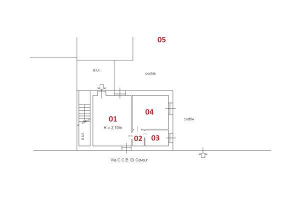 Immagine n2 - Planimetria - Piano terra - Asta 11664