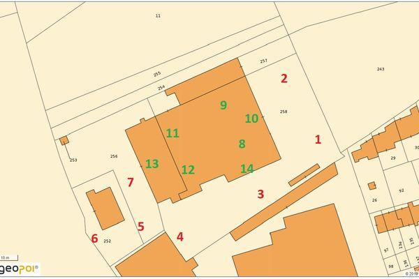 Immagine n1 - Planimetria - Estratto di mappa - Asta 11671