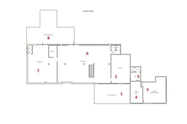 Immagine n1 - Planimetria - Piano terra - Asta 11861