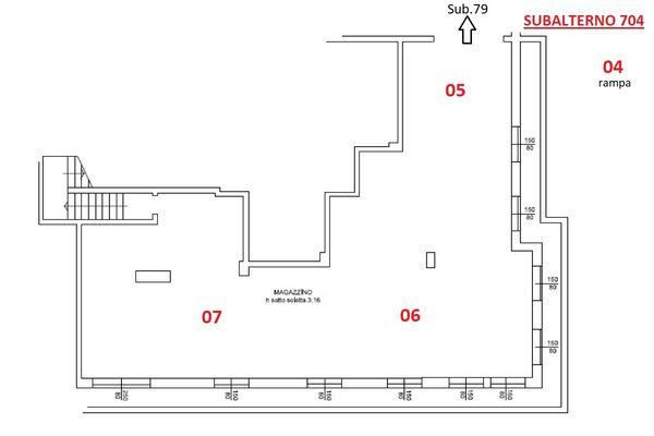 Immagine n0 - Planimetria - Piano interrato - Asta 11914