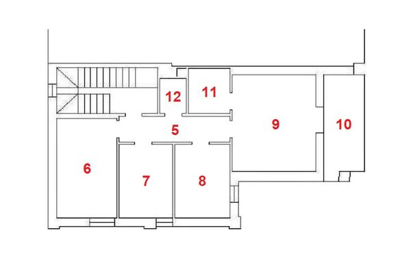 Immagine n2 - Planimetria - Piano primo - Asta 11959