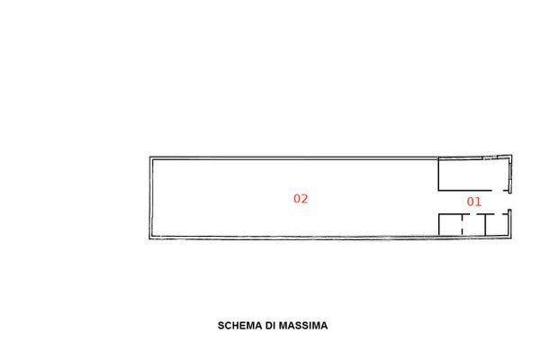 Immagine n1 - Planimetria - Piano seminterrato - Asta 1196