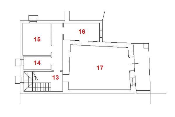 Immagine n3 - Planimetria - Piano seminterrato - Asta 11960