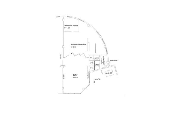 Immagine n1 - Planimetry - Ground floor - Asta 12189