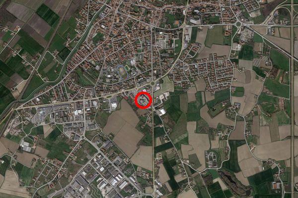 Immagine n1 - Planimetria - Vista aerea - Asta 12258
