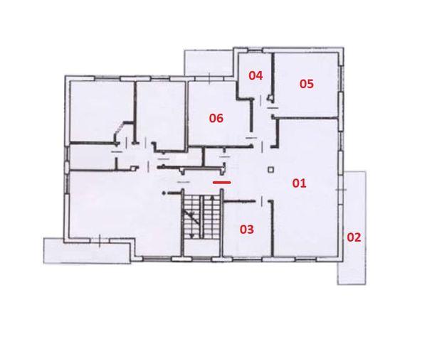 Immagine n5 - Planimetria - Piano secondo - Asta 12272