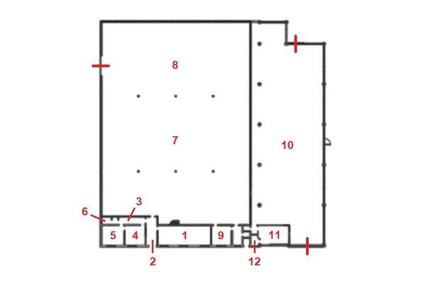 Immagine n1 - Planimetria - Piano terra - Asta 12295