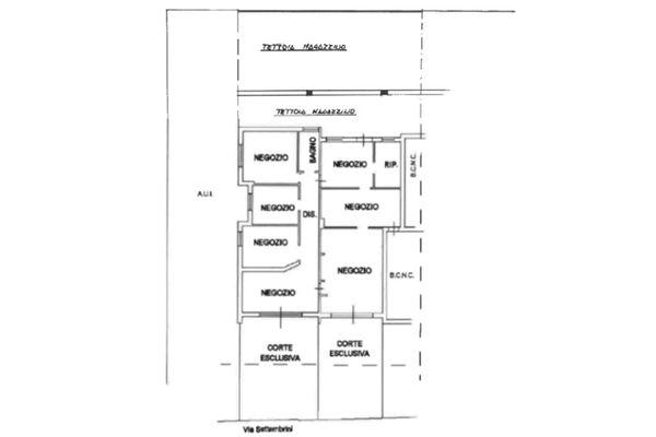 Immagine n1 - Planimetria - Piano terra - Asta 12371