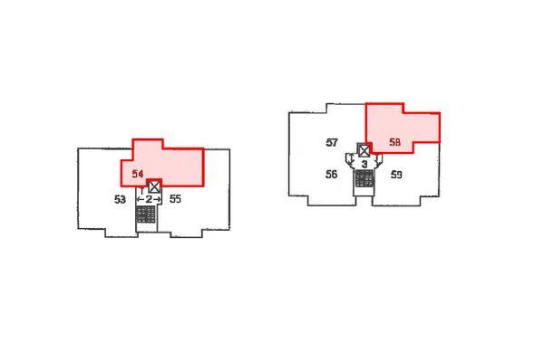 Immagine n5 - Planimetria - Piano quarto - Asta 12424