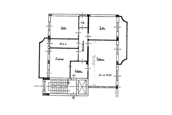 Immagine n1 - Planimetry - Fifth floor - Asta 13037