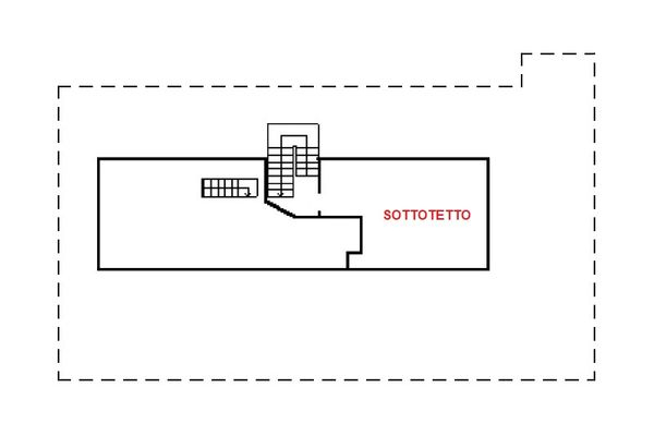 Immagine n2 - Planimetria - Piano secondo - Asta 13100