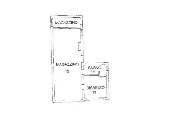 Immagine n2 - Planimetria - PT - Magazzino - Asta 1314