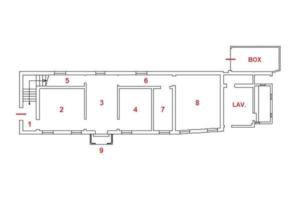 Immagine n1 - Planimetria - Piano terra - Asta 13156