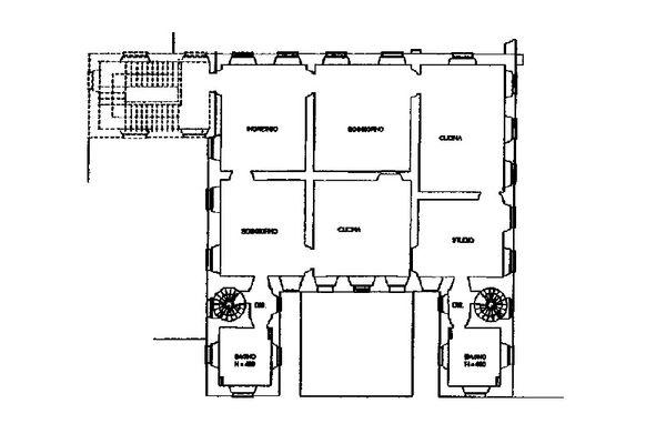 Immagine n1 - Planimetria - Piano secondo - Asta 13310