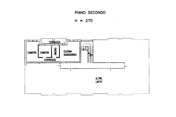 Immagine n0 - Planimetria - Appartamento sub 50 - Asta 13515