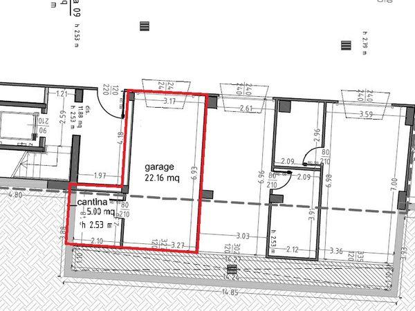 Immagine n1 - Planimetria - Piano interrato - Asta 1377