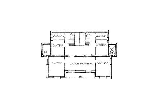 Immagine n1 - Planimetria - Piano Seminterrato - Asta 14044