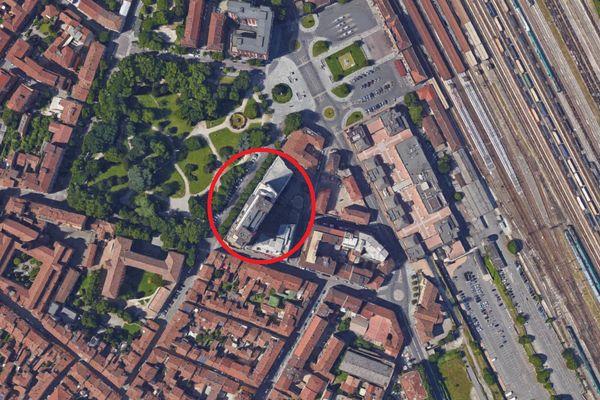 Immagine n1 - Planimetria - Vista aerea - Asta 1436