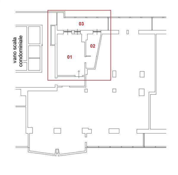 Immagine n2 - Planimetria - Piano quattordicesimo - Asta 1436