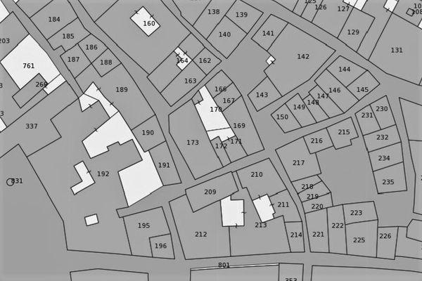 Immagine n2 - Planimetria - Estratto di mappa - Asta 1480