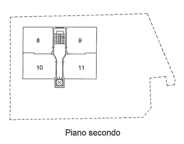 Immagine n3 - Planimetria - Piano secondo - Asta 1511