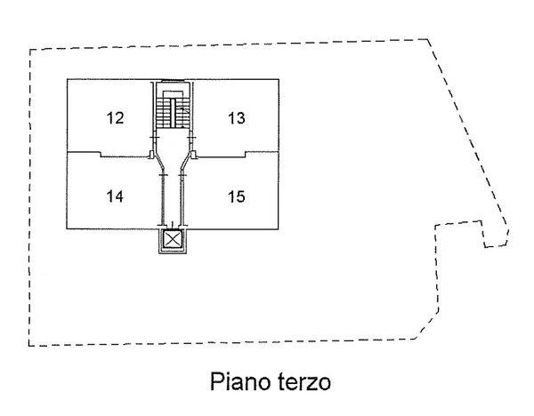 Immagine n3 - Planimetria - Piano terzo - Asta 1511