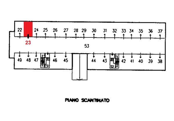 Immagine n0 - Planimetria - Piano interrato - Asta 1632